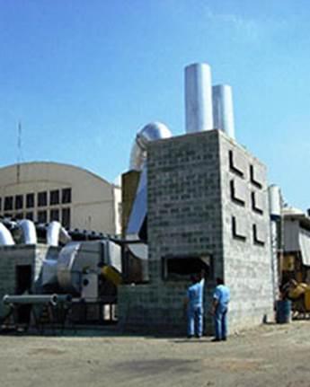 Lavador de Gases para Estufa de Cura de Resina Fenólica em Alvenaria, Construção Econômica.