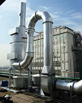 Lavador de Gases para Impressoras Off Set e Rotativas. Construção em Aço Carbono Revestido.