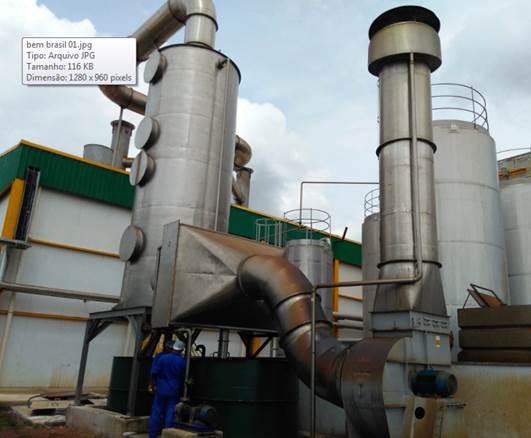 Lavador de Gases para Névoas da Fritura de 25.000 Kg/h de Batatas, em Aço Inoxidavel