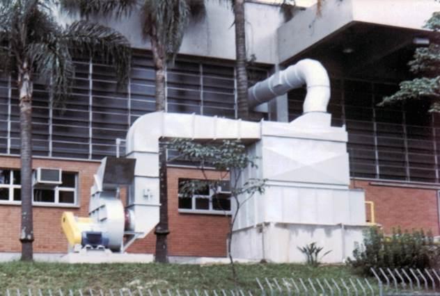 Lavador de Gases tipo Auto Induzido Roto Clone no Senai Mario Amato para Pó de Granito e Mármore