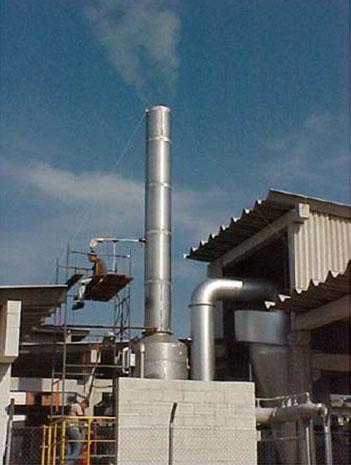Lavador de Gases para Secador de Lodos - CEDAE - Ilha do Governador / RJ
