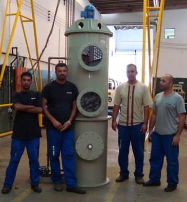 Lavador de Gases em PP para solventes alcalinos (VEOLIA do Brasil)