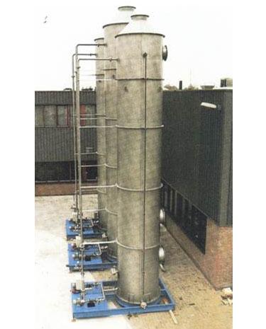 Controle de Odor em 3 Estágios Acido + Alcalino + Oxidante