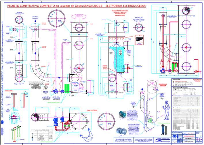 Projeto Especial Eletrobrás Nucelar para lavagem de Partículas de Urânio