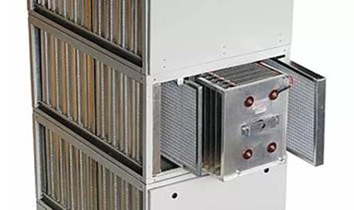 Detalhe, pré-filtro de névoas, de Telas, Célula eletrostática e Filtro de Carvão ativado