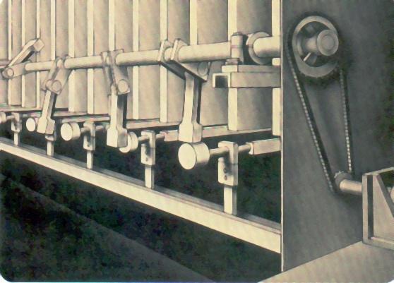 Detalhe dos Martelos de Limpeza