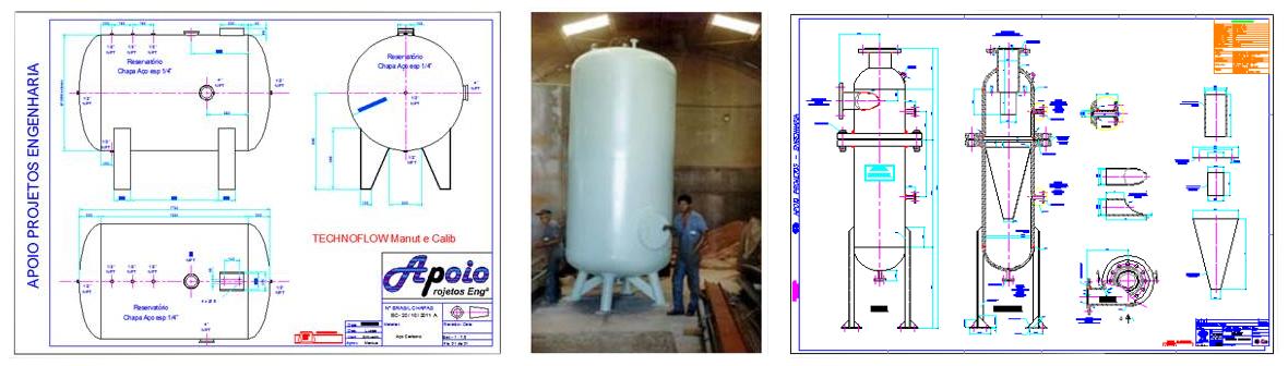 Dimensionamento, cálculos e Testes hidrostáticos de Vazos de pressão