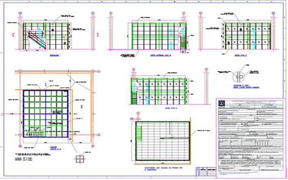 Projeto de Estrutura Metálica para atender Novas Instalações, Escritório Power Train