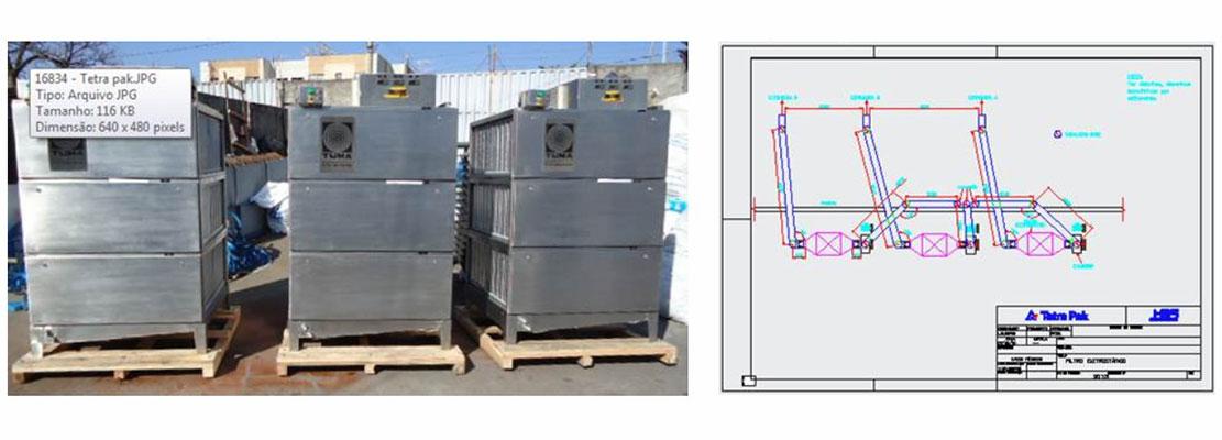 Reengenharia e Nacionalização de filtros SMOG-HOG - Projeto Especial 100% em Aço Inoxidável com resistências para aquecimento interno