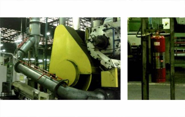 TRW Sto André, Exaustão do Forjamento de Válvulas de Injeção com lubrificação por Grafite e querosene